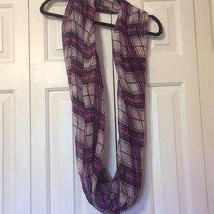 Accessories - Plaid Purple Infinity Scarf